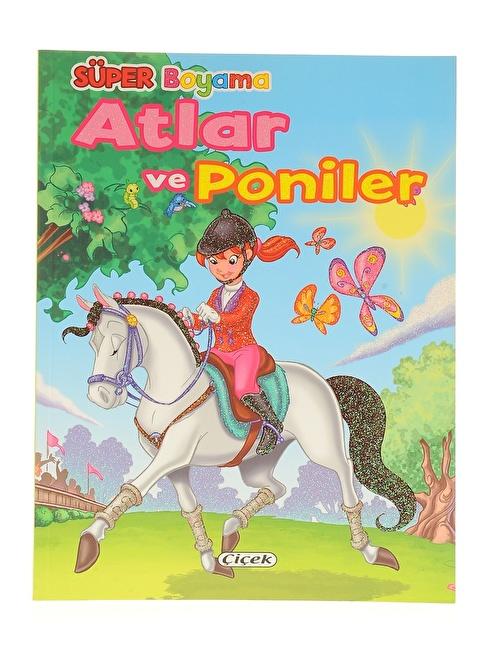 Çiçek Yayıncılık Süper Boyama-Atlar Ve Poniler-1 Renkli